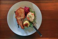 Ωραία γεύση μπριζόλας χοιρινού κρέατος Στοκ Εικόνες