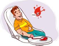 δωρεά αίματος ανασκόπησης ιατρική Στοκ Εικόνα