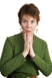 ωριμάστε τη συγκλονισμένη γυναίκα Στοκ Εικόνα