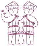 Ωροσκόπιο διασκέδασης - zodiac Διδυμων σημάδι απεικόνιση αποθεμάτων