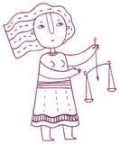 Ωροσκόπιο διασκέδασης - zodiac Libra σημάδι απεικόνιση αποθεμάτων