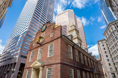 1713 ως χτισμένο κοινό μουσείων της Μασαχουσέτης σπιτιών ιστορίας της Βοστώνης κτήριο παλαιό παλαιότερο τώρα εξυπηρετούν την κρατ Στοκ Εικόνα