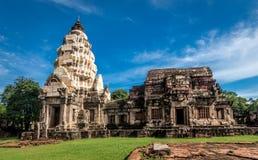 Ωχρή, Khmer καταστροφή Phanom Prasat σε Nakhon Ratchasima Στοκ Φωτογραφίες