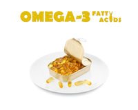 Ω 3脂肪酸 库存照片