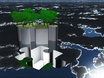 Όαση κομματιού γρίφων με τον ουρανό Στοκ εικόνα με δικαίωμα ελεύθερης χρήσης