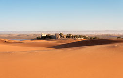 όαση Σαχάρα Τυνησία ερήμων της Αφρικής Στοκ Εικόνα