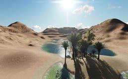 Όαση στην έρημο Στοκ Εικόνες