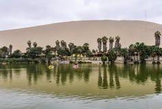 Όαση στην έρημο Huacachina, Περού Στοκ εικόνες με δικαίωμα ελεύθερης χρήσης