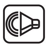 Όγκου κουμπιών σημάδι και σύμβολο εικονιδίων διανυσματικό που απομονώνονται στην άσπρη πλάτη διανυσματική απεικόνιση
