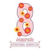 Όγδοος σχέδιο έννοιας ημέρας γυναικών ` s Μαρτίου Στοκ εικόνες με δικαίωμα ελεύθερης χρήσης