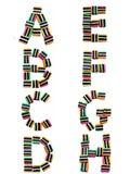 όλα licorice αλφάβητου χ τα είδη στοκ εικόνες με δικαίωμα ελεύθερης χρήσης