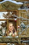 Όλες οι επιθυμίες πραγματοποιούνται στη νύχτα Χριστουγέννων ζωή Χριστουγέννων ακόμα Υγρό watercolor ζωγραφικής σε χαρτί Αφελής τέ ελεύθερη απεικόνιση δικαιώματος