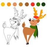όλες οι οποιεσδήποτε μεμονωμένες συστάσεις μεγέθους κλίμακας αντικειμένων απεικόνισης στοιχείων ελαφιών Χριστουγέννων στο διάνυσμ Στοκ Φωτογραφίες