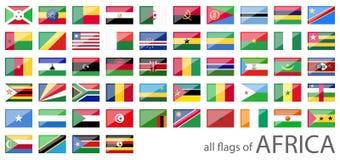 όλες οι σημαίες χωρών της Αφρικής Στοκ φωτογραφία με δικαίωμα ελεύθερης χρήσης