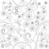 όλες οι floral πλευρές προτύπων αντιστοιχιών Στοκ Εικόνα