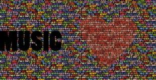 όλη η μουσική αγάπης ανασκ απεικόνιση αποθεμάτων