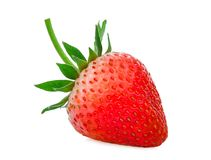 Όλη κόκκινη φράουλα που απομονώνεται στο λευκό Στοκ Εικόνες