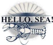 Όλοι για τα ταξίδια θάλασσας Σχέδιο για την τυπωμένη ύλη, την αφίσα ή τη δερματοστιξία μπλουζών απεικόνιση αποθεμάτων