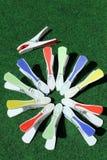 όλοι γύρω από τα clothespins Στοκ φωτογραφία με δικαίωμα ελεύθερης χρήσης