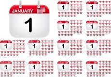 όλο το έτος ημερολογια&ka Διανυσματική απεικόνιση