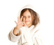 όλο το κορίτσι χειρονομίας εμφανίζει καλά Στοκ Εικόνα