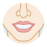 Όμορφα άσπρα δόντια και καλό dentition διανυσματική απεικόνιση