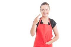 Όμορφα δάχτυλα εκμετάλλευσης υπαλλήλων χαμόγελου που διασχίζονται Στοκ φωτογραφίες με δικαίωμα ελεύθερης χρήσης