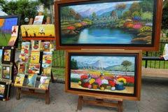 Όμορφα έργα ζωγραφικής των περουβιανών τοπίων Στοκ φωτογραφία με δικαίωμα ελεύθερης χρήσης
