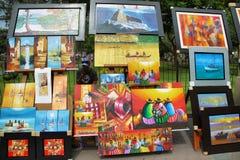 Όμορφα έργα ζωγραφικής των περουβιανών τοπίων Στοκ εικόνα με δικαίωμα ελεύθερης χρήσης