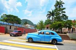 Όμορφα αμερικανικά αυτοκίνητα στην Κούβα Στοκ Εικόνες