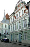 Όμορφα αποκατεστημένα σπίτια 19 αιώνες Στοκ Εικόνες