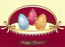 όμορφα αυγά Πάσχας κιβωτίων Στοκ εικόνα με δικαίωμα ελεύθερης χρήσης