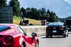 Όμορφα αυτοκίνητα στην Αυστρία στοκ φωτογραφία