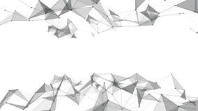 Όμορφα αφηρημένα γεωμετρικά γραμμές υποβάθρου και σημεία, πλέγμα κίνηση αργή φιλμ μικρού μήκους