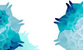 Όμορφα αφηρημένα διακοσμητικά μπλε λουλούδια Στοκ Φωτογραφίες