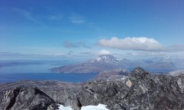 Όμορφα βουνά Γροιλανδία Νουούκ Sermitsiaq Στοκ Εικόνα