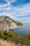 Όμορφα βουνά θάλασσας της Κροατίας Στοκ εικόνα με δικαίωμα ελεύθερης χρήσης