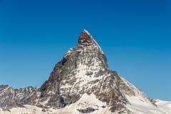 Όμορφα βουνά τοπίων σε Matterhorn, Zermatt, Switzerlan Στοκ Φωτογραφία