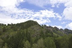 Όμορφα βουνά Altai Ρωσία, Σιβηρία, το Altai Στοκ εικόνα με δικαίωμα ελεύθερης χρήσης