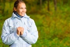 όμορφα γέλια κοριτσιών Στοκ Εικόνα