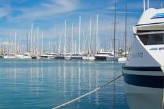 Όμορφα γιοτ στο λιμάνι Palma Στοκ Φωτογραφίες