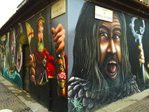 Όμορφα γκράφιτι στο Μιλάνο Στοκ εικόνα με δικαίωμα ελεύθερης χρήσης