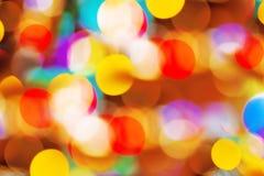 Όμορφα ζωηρόχρωμα εορταστικά φω'τα bokeh Στοκ Φωτογραφία