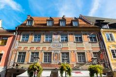 Όμορφα ζωηρόχρωμα σπίτια σε Fussen, Γερμανία Στοκ φωτογραφίες με δικαίωμα ελεύθερης χρήσης