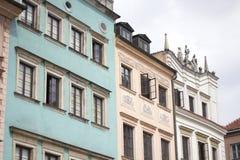 όμορφα ζωηρόχρωμα σπίτια Στοκ Εικόνες