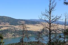 Όμορφα θέρετρα βουνών και λιμνών ταξιδιού στον Καναδά Στοκ Εικόνες