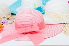 Όμορφα θερινά καπέλα Στοκ Φωτογραφία