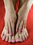 όμορφα θηλυκά πόδια χεριών Στοκ φωτογραφίες με δικαίωμα ελεύθερης χρήσης