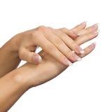 όμορφα θηλυκά χέρια Στοκ Εικόνα