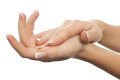 όμορφα θηλυκά χέρια Στοκ Εικόνες